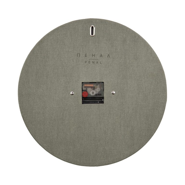 the great gray wall clock backside large