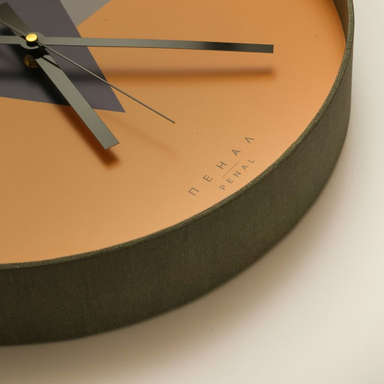 the great grey wall clock close side