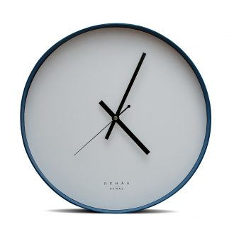 blue wall clock large