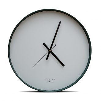 green wall clock large